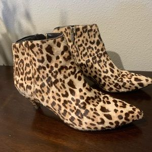 San Edelman Leopard Booties